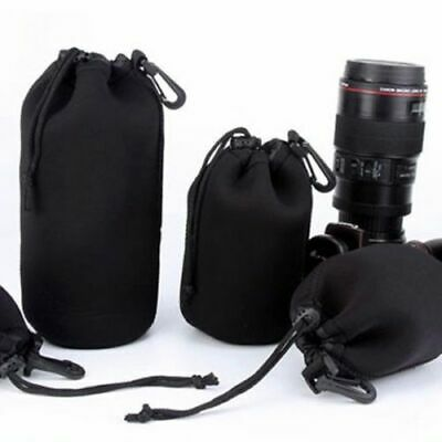 Black Size- S M L XL Matin Neoprene Waterproof Camera Lens Pouch Bag Case Soft
