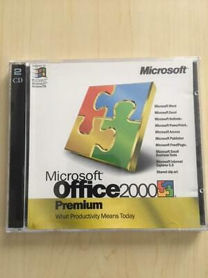 MICROSOFT OFFICE 2000 Premium 2 CD Upgrade W/ Product Key