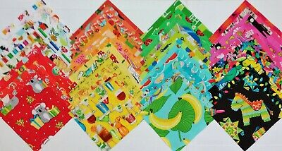 """48 GIRLS Novelty Cotton Quilt Patchwork Fabric 5""""  Squares I SPY MULTI-COLOURED"""