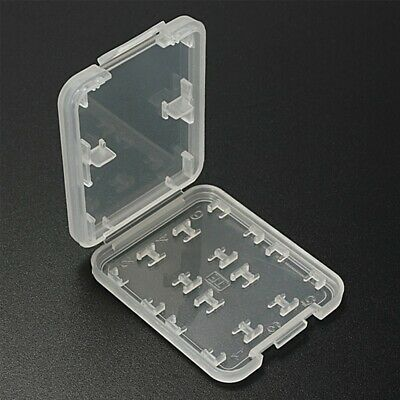 8 In 1 TF Micro SD SDHC Memory Card Protection Storage Case White Box Holder