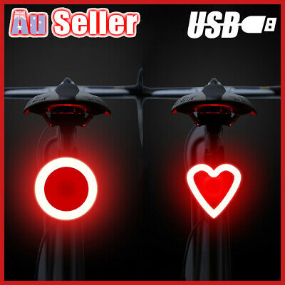 Ultrabright Bike Bicycle Tail Light Cycling USB Rechargeable Back Lamp Rear COB