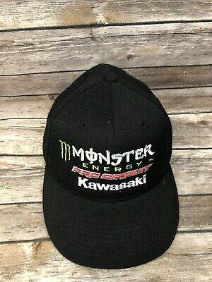 333b9e577f Monster Energy Drink Kawasaki Pro Circuit Fitted Baseball Cap Hat 7.5 7 5 8  Moto