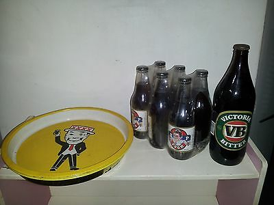 RARE BEERS AND BEER TRAYS /Powers Bitter/ Victoria Bitter/ XXXX /  MAN CAVE/ BAR