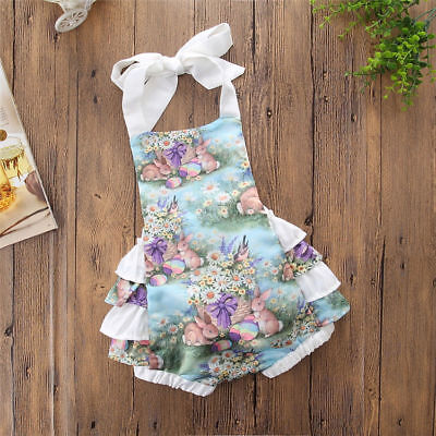 AU Newborn Easter Bunny Clothes Baby Girl Kids Romper Bodysuit Playsuit Outfits