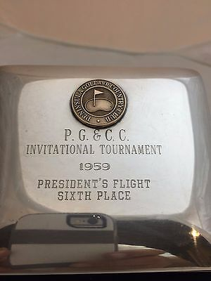 Antique Vintage Silver Plate Desk Box – Peninsula Golf and Country Club –