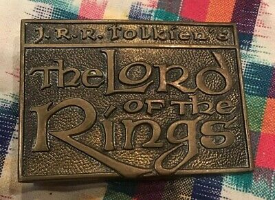 1979 The Lord of the Rings Belt Buckle Solid Brass In Great Condition