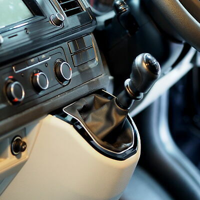 Gear Knob Surround For VW T6 Transporter Manual or DSG Piano Black