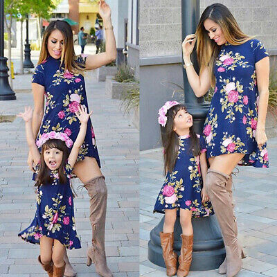 105b0ae9589b3 MOMMY AND ME Family Matching Dress Mother Daughter Floral Holiday Maxi Dress