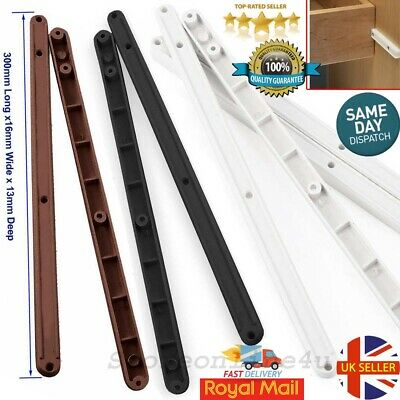 Pairs Plastic Drawer Runners Kitchen Bedroom Cabinet Guide Rails 17MM Grooved