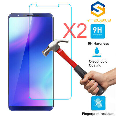 2Pcs 9H+ Premium Tempered Glass Film Screen Protector For Cubot x18 Plus