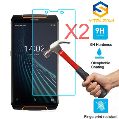 2Pcs 9H+ Premium Tempered Glass Film Screen Protector For Cubot king kong 3