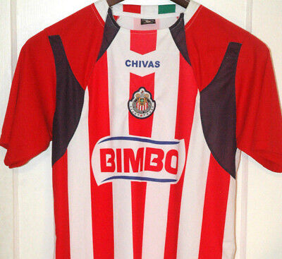 bf976d185a2 Club Deportivo Guadalajara Soccer Jersey CHIVAS Bimbo PATCH Mexican Mexico  ADULT