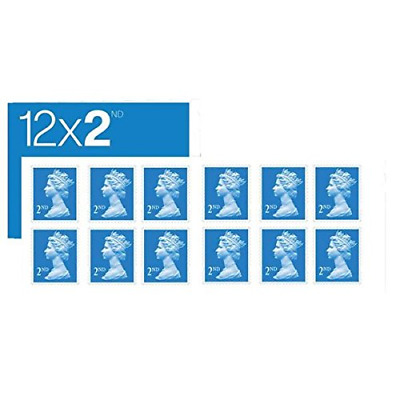 6 x Individual Books of 12 2nd class royal mail stamps (72)