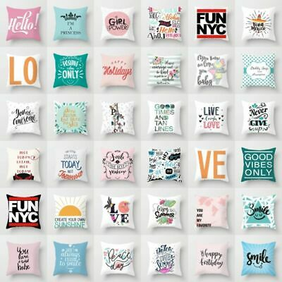 Personality LOVE Letter Sofa Pillow Case Polyester Cushion Cover Home Decor