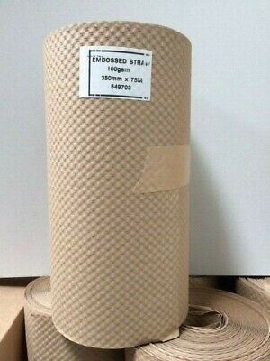 Eco Friendly Brown Crepe Corrugated Paper Rolls Embossed Bubble Wrap Alternative