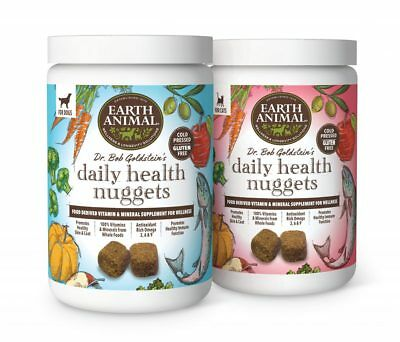 EARTH ANIMAL DOG & Cat HEALTHY NUGGETS 1LB   Free Shipping