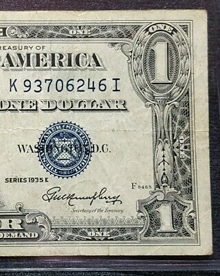 1935-E One-Dollar Silver Certificate – Blue Seal