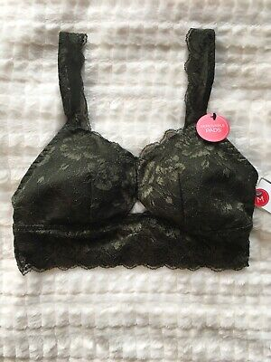 697268a1c6e4 New MARILYN MONROE Lace Bra Removable Pads Wire Free Comfy Lounge Sz M NWT  $36