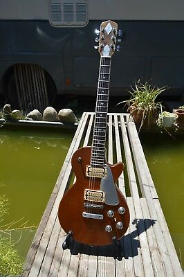 1978 Zemaitis All-Mahogany Gothic Headstock Electric Guitar + Dural Pickguard