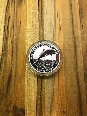 2019 Australia Bottlenose Dolphin 1 Ounce .999 Silver Coin - Mintage Of 25,000