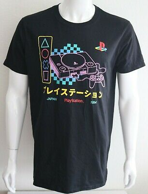 13f77ed04443 PLAYSTATION MENS GRAPHIC Tee Black 100% Cotton Size L T-Shirt ...