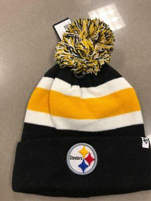 cc1c9ffcc NFL Pittsburgh Steelers Cuff Knit Pom Hat 47 Brand Breakaway Knit