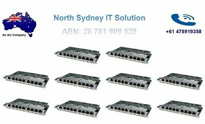 Lot Of 8 Cisco HWIC-D-9ESW-PoE 10/10 PoE EtherSwitches, 1 Yr Wty, Invoice