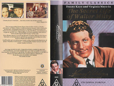 THE SECRET LIFE OF WALTER MITTY -Danny Kaye VHS N&S PAL - Original Oz sell thru