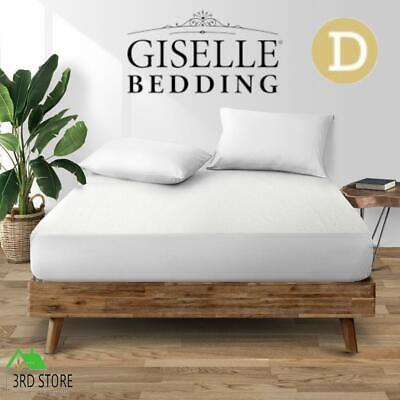 Giselle Bedding Fully Fitted Waterproof Mattress Protector Bamboo Cover Double