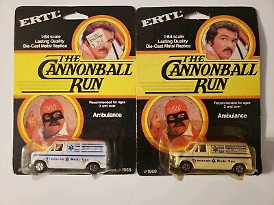 The Cannonball Run Ambulance 1:64 By ERTL NEW in package. Both cars