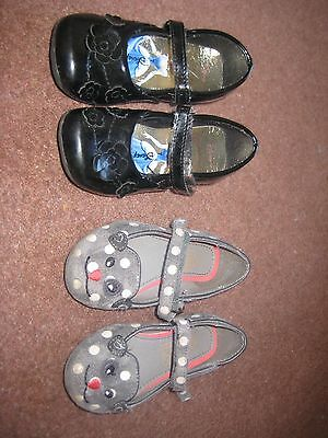 Bundle Girls Black/ Grey Shoes Infant Size 7 M & S