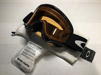 46fb63034cc Oakley Glasses O-Frame Goggles Black Fiber Frame Snow Board Ski With  Storage Bag