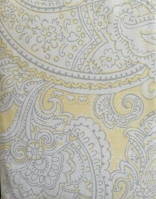 Cynthia Rowley Paisley Shower Curtain Yellow Grey White Samira Spring Floral