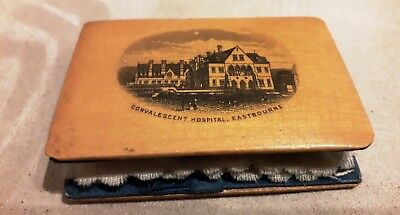 Interesting Mauchline Ware Needle Case Convalescent Hospital Eastbourne