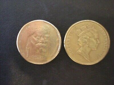 """Australian 1996 $1 Sir Henry Parkes - """"Father of Federation"""" – Circulated coin"""
