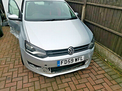2010 Volkswagen polo 1.6 tdi fsvwh damaged spares or repair