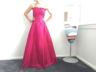 Helen English Raw Silk Strapless Full Length Full Skirt Formal Dress Bridal