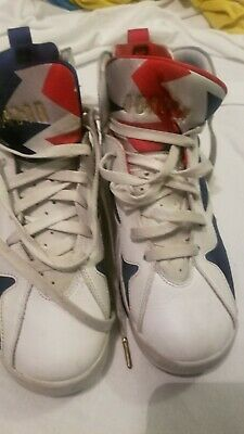 47c2a2d68b39b NIKE 304774-135 AIR Jordan 7 Retro GS Olympic White Metallic Gold ...