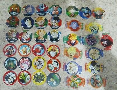 💥 38 Dragonball Z Fusion Fighters Tazo & Octagonal Disc's - Collectors Item