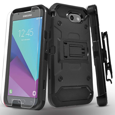 Galaxy J7 Sky Pro Case, J7 V, J7 Perx, Halo, J7 Prime, with [Tempered Glass Scre
