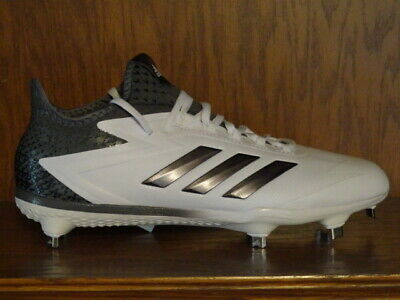 Mens ADIDAS AFTERBURNER 4 Metal Baseball Cleats White Silver B39156 ca942391b