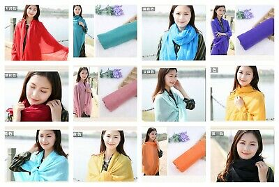 US SELLER- 24 Scarves & Wraps plain fashion casual light weight shawls wholesale