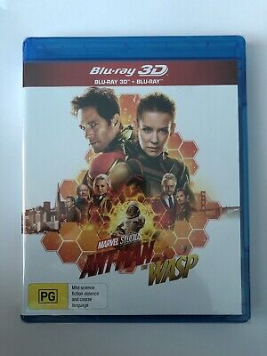 Ant-Man And The Wasp (3D & Blu-ray, 2018) New Marvel Movie Multi Region A B & C