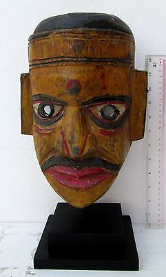 BEAUTIFULLY CARVED Old Tharu Bodhi Tree Wood Shaman Exorcism Mask
