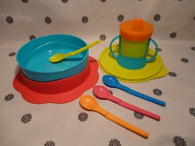 Tupperware Infant Baby Feeding Set Bowl Sippy Cup Spoons New!