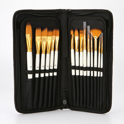 10/15X Art Paint Brush Kit Set for Watercolor Acrylics Oil Face Painting Cosplay