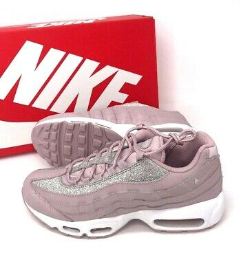 timeless design afdbd 20ae8 Nike Womens Air Max 95 SE Sportswear Running Rose Shimmer AT0068-600 size 8  9