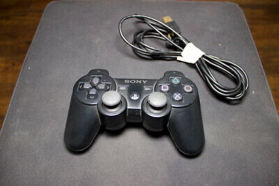 Official Genuine OEM Sony PS3 Wireless Dualshock 3 Controller Black W/ USB!