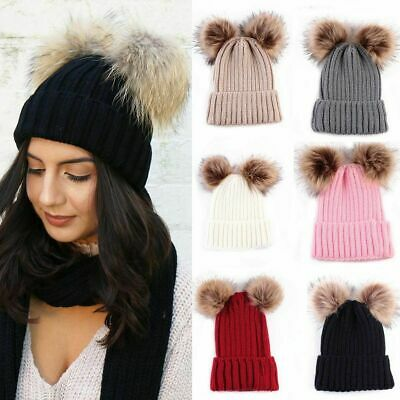 8e4dc3f4a2c Braided Crochet Wool Knit Beanie Beret Ski Ball Cap Baggy Womens Winter  Warm Hat