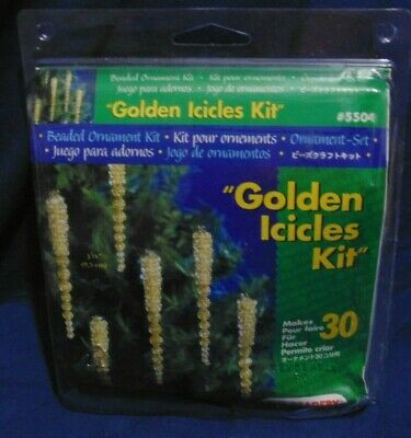 """Beadery """"Golden Icicles Kit"""" - #5504 - Makes 30 Icicles 3-3/4 Inches Ornaments"""